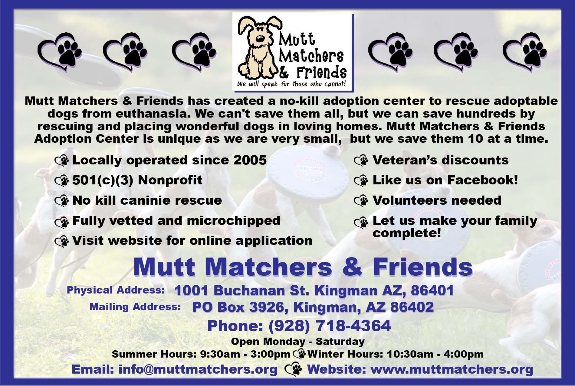 Mutt Matchers and Friends Kingman Arizona